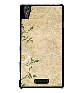 Fuson Designer Back Case Cover for Sony Xperia T3 (white flower floral leaves leaf )