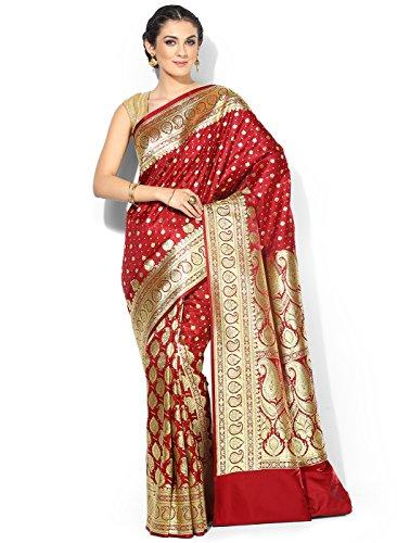 9d708bff0d08a EthnicJunction Booti Zari Butta Banarasi Silk Saree With Zari Thread ...