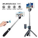 JEYPLUS Perche Selfie Trépied avec Télécommande pour iPhone 6s/ 7/ 7 Plus, Samsung Galaxy, Android Smartphones 3.5-6''- 3 en 1 Extensible Poche Selfie Stick Durable Cadre en Aluminium 360° Rotation