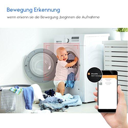 FREDI IP Sicherheit Kamera 960P Panorama Kamera 180°Wlan Videoüberwachung Dome Überwachungskamera IP Cam mit IR Nachtsicht /2 Weg Audio/Bewegungsmelder für Haus /Baby Überwachung - 6
