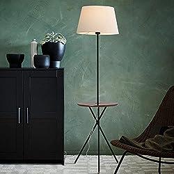 CWJ Lámpara de pie de Estilo Europeo Serie escandinavo Creativo sofá Cama Cabeza Circular Vertical lámpara de pie de Hierro Sala de Estar lámpara de pie de Mesa de café Dormitorio (Color Opcional) -