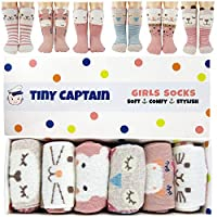 Baby Girl Crew Socks Pastel Animal Gift Set