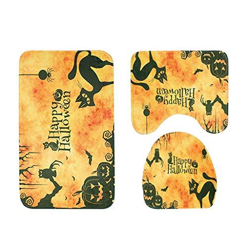 Mitlfuny Festival dekor,Christmas,Halloween,Weihnachtsdekoration,Halloween deko,Halloween kostüm,Happy Halloween Series WC-Bodenmatte Exquisite Print dreiteilige (Bad Girl Dance Kostüm)