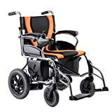 ENVIGF Electric Wheelchair Power Foldable Compact Mobility Aid Wheelchair,Elder People Power Chair 360° Joystick, Weight Capacity 220 Lbs For Home And Outdoor Use