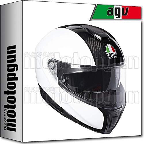 MOTOTOPGUN AGV 201201A4IY-004 CASQUE MODULAR SPORTMODULAR SOLID CARBON-BLANC SZ. L