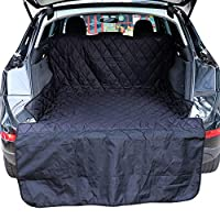 Vech Waterproof Pet Cargo Cover Dog Car Seat Cover Pet Cargo Liner, Waterproof, Nonslip, Washable Pet Backseat with Bumper Flap Protection for Cars, Trucks & SUVs, Large Size Universal Fit Black