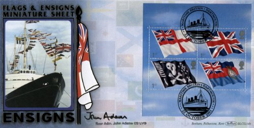 Flaggen Ensigns-Set, First Day Cover - First Navy Jack