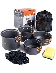 NatureHike 2-3 persons Camping Popote Ensembles Portable De plein air Batterie de cuisine Picnic Pot and Pan