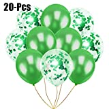 COOFIT Palloncini Coriandoli 12 pollici 20 pezzi Palloncini in Lattice Decorazioni per Compleanno, Matrimonio e Festa