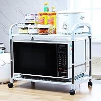 YANZHEN Seasoning Rack Almacenamiento Estantes Cocina Acero Inoxidable  Estante del Horno De Microondas 3 Colores 68b2db45bef6