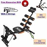 Bauchmuskel-Trainingsgerät für zu Hause, ideal für Unterbauchtraining, Fitnesstraining, Crunches, Maschinentraining und Bank-Training, 6 Funktionen, Orange
