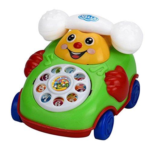 Elecenty Cartoon Telefon Spielzeug Lernspielzeug Auto Spielzeug Unisex Baby Spielzeugautos Kettenauto Spielzeug Plastikspielzeug Ab 3 Jahrenielzeug voor kinderen (12cm, zufällige Farbe)