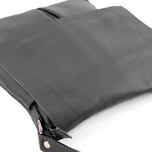 Clásico Barato modamoda de ital. Borsa a tracolla Messenger signore borsa grande in pelle T75 Anthrazit Comprar Compra Barata Precio Barato Envío Libre oqpyZ