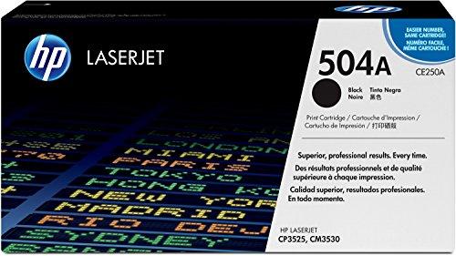 HP 504A (CE250A) Schwarz Original Toner für HP Color Laserjet CP3525, HP Color Laserjet CM3530 (Hp Ce252a)