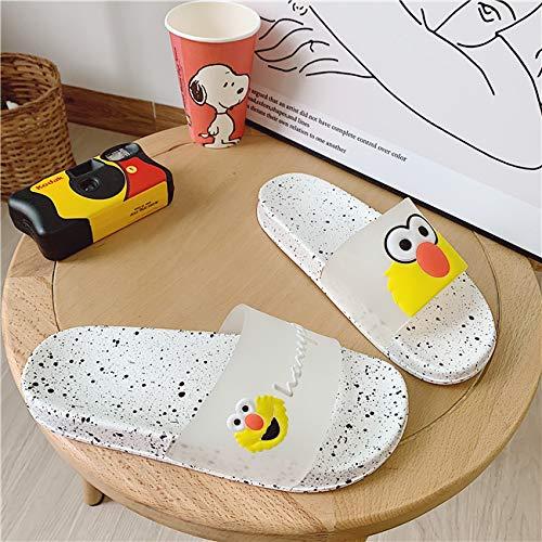 en,Frauen Hausschuhe Gelb Harajuku Cartoon Große Augen Hausschuhe Frauen Weichen Badezimmer Home Indoor Flach Folien Sommer Strand Flip Flops Schuhe,40 ()