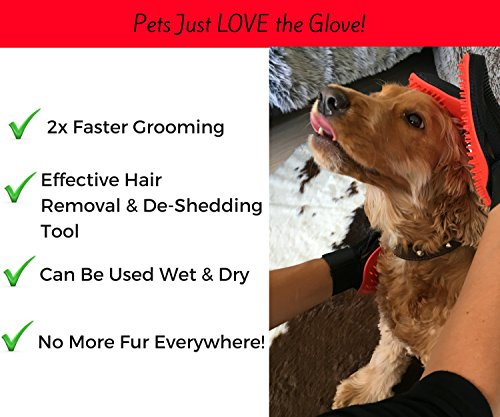 Moggiez & Doggiez PET GROOMING GLOVE/DESHEDDING BRUSH – Pack of Two Gloves –Effective Cat and Dog Hair Remover… 3