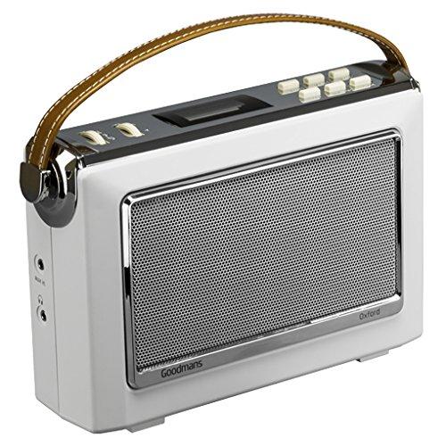 Goodmans 1960's Vintage Style Digital & FM Radio Oxford 2 in Cream - NFC and Bluetooth
