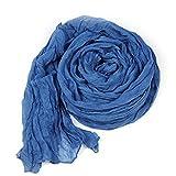 jaminy Frauen-Süßigkeit-reine Farben-Schal wickelt Schal-lange weiche Falten-Schals ein 170cm * 90cm (Dunkelblau)