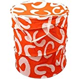 Winner Small Size Orange Folding Cotton Laundry Bag To Organize Cloths