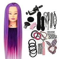 Neverland Practice Practice Training Head Synthetic Hair 64 cm Purple Hair Styling Braid Set