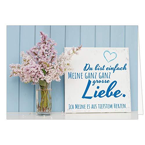 Große XXL Karte mit Umschlag (A4) /Motiv Meine ganz große Liebe/Edle Design Klappkarte/Hochzeit/Liebe/Hochzeitstag/Valentinstag/Heiratsantrag/Edle Maxi-Karte