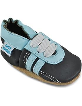 Juicy Bumbles - Zapatos de Bebé – Zapatillas de Niño Niña – Patucos de Piel con Elástico para Bebé - Zapatitos...