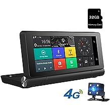 Junsun 7 Pulgadas Navegador GPS para Coche 4G con Cámara de Coche Videocámara DVR 1080P HD