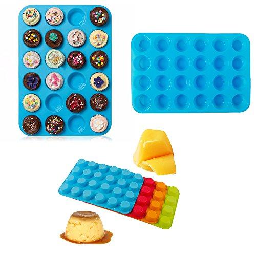 Mini muffin Puncakes Biscuit Pans 24cupcakes tazze di stampo stampo in silicone antiaderente vassoio teglia per cottura di
