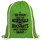 Produkt-Bild: ShirtStreet Fanartikel Fan Kult Film natur Turnbeutel Rucksack Gymsac Außerhalb von Hogwarts