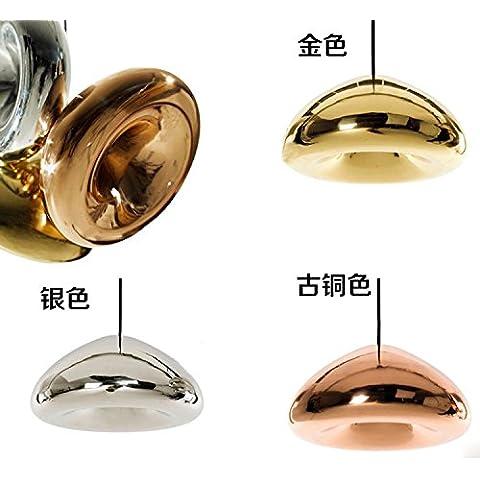 CAC La placcatura d'arte lampadario di vetro ciondolo pendente di luce Luce villaggio americano lampadario (quantità 1) Oro