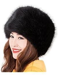 Las mujeres del Ruso Cossack estilo Faux de piel de zorro invierno cálido sombrero