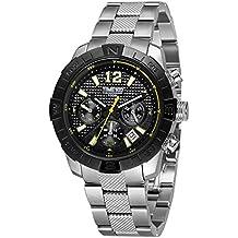 Time100 reloj cuarzo hombre Retro Mode Exquise multifunciones cronómetro calendario la gráfico del 24horas correa de acero inoxidable
