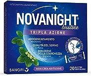 Novanight Bustine Tripla Azione Integratore alimentare con melatonina, griffonia e Magnesio, si scioglie veloc