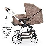 ABC Design Kombi-Kinderwagen Set Turbo 4 – inkl. 3in1 Tragewanne für Neugeborene, Liegefunktion, ausklappbarem Sonnenverdeck, Schieber höhenverstellbar, Sitz drehbar, große Räder – Bean - 2