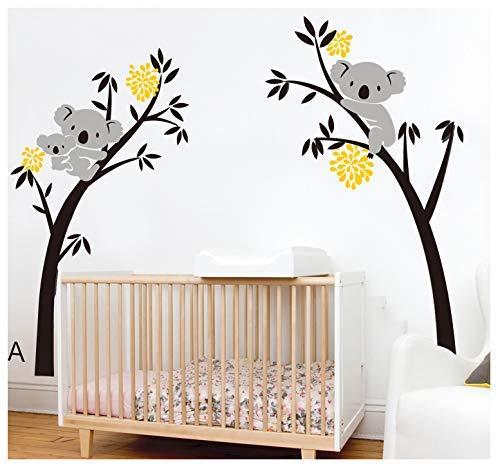Bdecoll Vinilos decorativos/Árbol de 3 Koalas adhesivos vinilo de niños/habitación Guardería infantil...