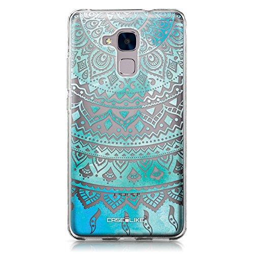 CASEiLIKE® Honor 5C Hülle, Honor 5C TPU Schutzhülle Tasche Case Cover, Indische Linie Kunst 2066, Kratzfest Weich Flexibel Silikon für Huawei Honor 5C/Honor 7 Lite/GT3