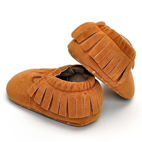 Infant Unisex Wildleder Mokassins Fist Walking Schuhe, Grau - Grau - Größe: 12-18 monate Braun
