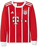 adidas Kinder FC Bayern München Home Replica Jersey Longsleeve Youth 2017/18 Langarmtrikot, FCB True red/White, 128