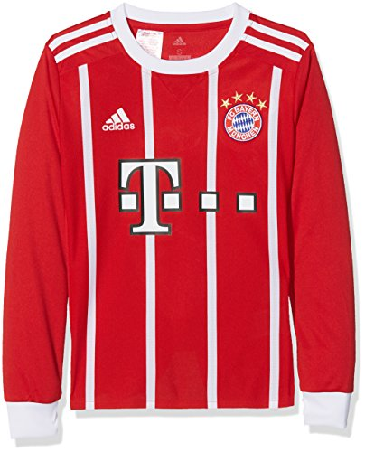 adidas Kinder FC Bayern München Home Replica Jersey Longsleeve Youth 2017/18 Langarmtrikot, FCB True red/White, 176 -