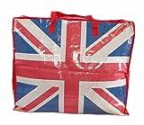 Extragroße Aufbewahrungstasche Riesentasche Wäschetasche Umzugstasche Jumbo Bag 90 Liter, UK Flagge