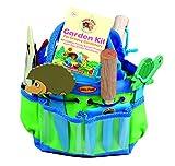 Tierra Garden 7-LP380 per piccoli pollici verdi bambini Junior kit da giardino con paletta, forcone, guanti, cartellini per piante,secchio, rosa