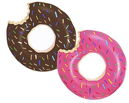 Schwimmring Donut Ø125cm Schwimmreifen aufblasbar Luftmatratze Reifen #3518, Farbe:Braun