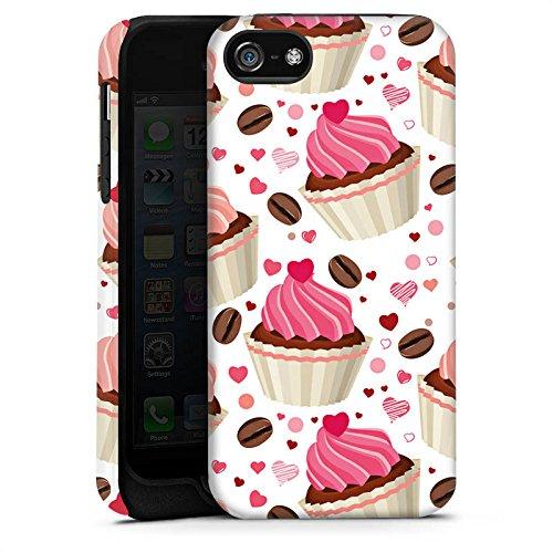 Apple iPhone 4 Housse Étui Silicone Coque Protection Tarte Gâteau Café et gâteau Cas Tough terne