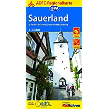 ADFC-Regionalkarte Sauerland mit Tagestouren-Vorschlägen, 1:75.000, reiß- und wetterfest, GPS-Tracks Download: Mit RuhrtalRadweg und SauerlandRadring (ADFC-Regionalkarte 1:75000)