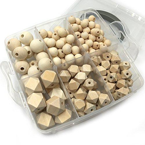 coskiss-diy-nursing-jewelry-combination-package-blending-naturliche-runde-geometrie-sechskant-wooden