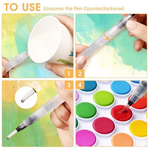 Zoom IMG-3 artistore pennello per acquerello acqua
