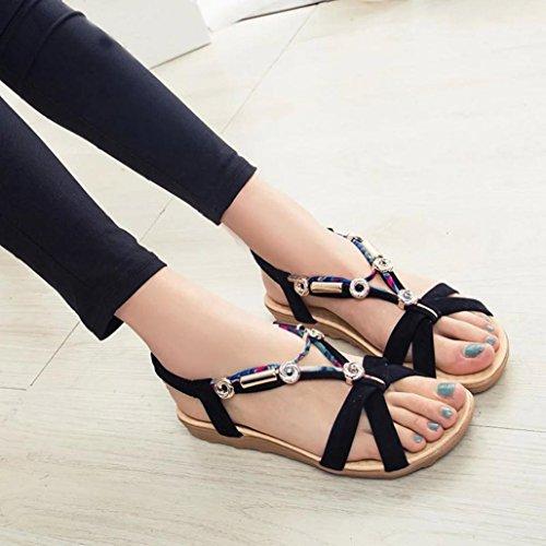 Vovotrade Estate Sandali delle donne di nuovo modo Calzature Scarpe Sandali bassi donna Nero
