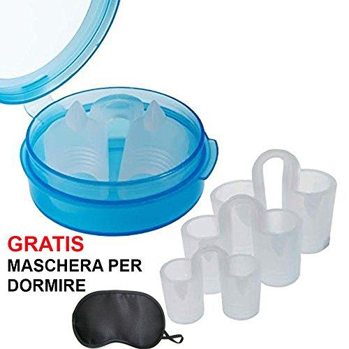 Snorex-Vent- 4 Dilatatori nasali di silicone. Migliora le prestazioni sportive e diminuisce il russare + MASCHERINA PER DORMIRE GRATIS