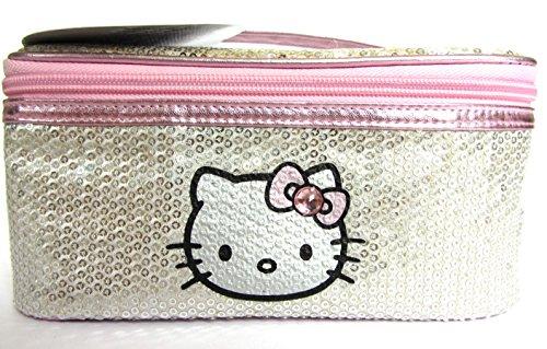 Hello Kitty Niñas Mujeres lentejuelas lujo cosméticos bolsa de almacenamiento