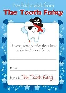 School Stickers - Jungen Zahnfee Zertifikate